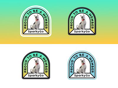 Proud to be a member 3D font typo mark branding vector design illustration petshop dog doggo pet animal stroke circle badge sticker cute funny logo