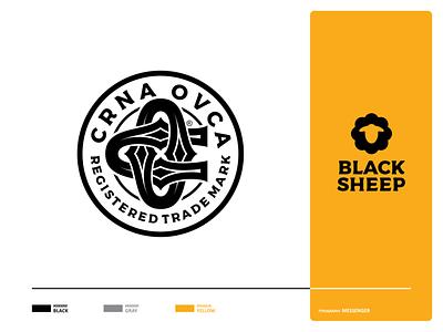 Black Sheep marks craft brewery beer brewers beers ipabeer craftbeer mark logo branding trademark black blacksheep sheep animal illustration design nature icon typo