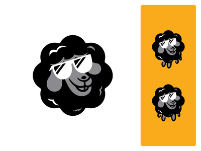 Black sheep avatar beers ipa beer ipa craft beer beer mark logo branding cool black black sheep sheep animal vector illustration design nature icon set icon shape