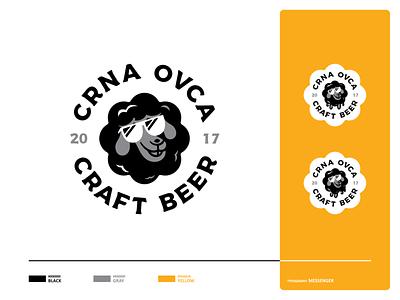 Black Sheep black sheep sheep shape black cool craftbeer craft ipabeer ipa beers mark badge typography logo icon set branding vector icon design illustration
