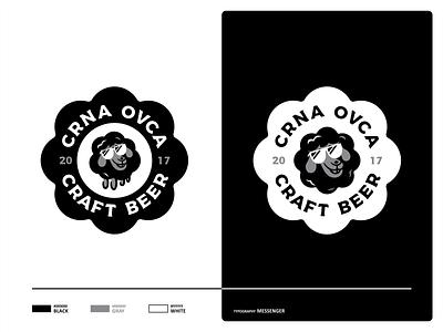 Black Sheep badge shape illustration design vector sheep black typo typography font cool craftbeer beer mark ipa ipa beer logo icon icon set branding