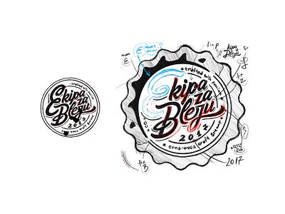 Ekipa za Bleju sketch illustration design icon vector branding icon set logo ui ux typographic font typo sketch typface letters mark beer craft cap craft beer