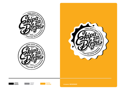 Ekipa za Bleju vector craft beer cap craft beer letters typface typo font typographic ui ux logo icon set branding vector mark icon design illustration