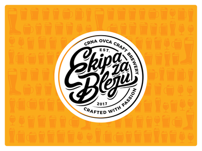 Ekipa za Bleju pattern illustration design icon mark vector branding icon set logo ui ux typographic font typo typface letters beer craft cap craft beer
