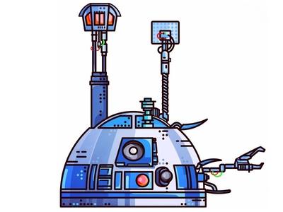 StarWars!! R2-D2!! imperial joda jedi sith r2d2 darth vader design portret stormtrooper boba fett wars star