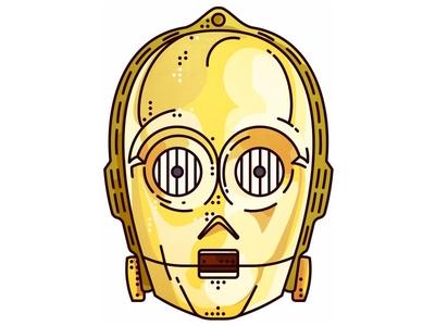 Starwars!! C-3PO!! imperial joda jedi sith r2d2 darth vader c3po portret stormtrooper space wars star