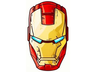 Iron Man!! Tony Stark!! sticker vector suit hero super movie avengers comic marvel face portret illustration