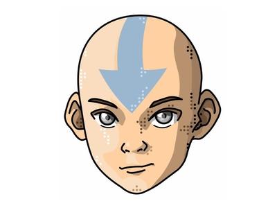 The Last Airbender!! Aang!! last airbender air portret head art vector character cartoon anime