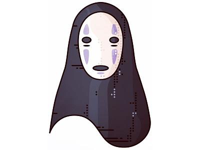 Spirited Away!! No-Face (Kaonashi)!! away spirited illustrator vector design art minimal fantasy miyazaki anime manga japan