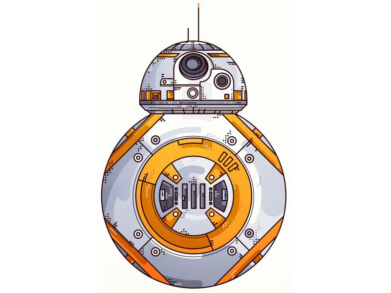 Starwars!! BB 8!! icon simple bb8 darth vader stormtrooper sith joda space jedi star wars design portret