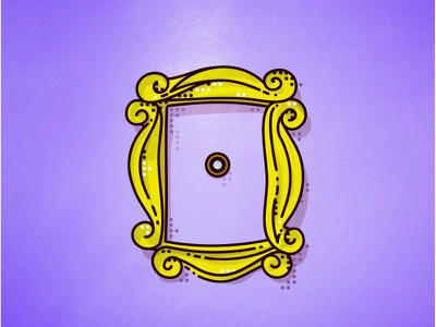 Friends !! Door !! line logo minimal simple frame door illustration tv series friends tv central perk