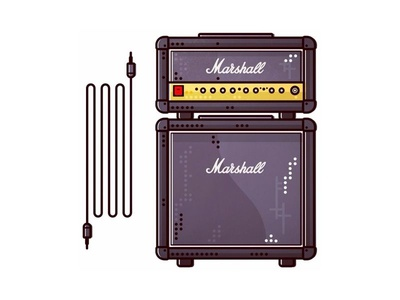 Marshall !!   Speakers !! pick marshall guitar concert rock electro band music record logo line speakers