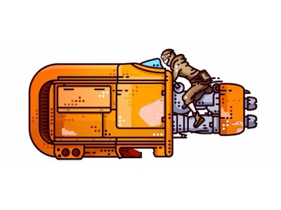 Starwars !! Rey's Speeder !! disney bike jakku speeder rey jedi icons the force awakens star wars movie icon