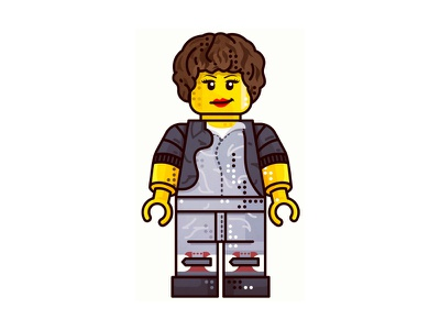 Alien !!  Ripley Lego !! art line tvshow movie lego constructor surprised character icon illustration outline