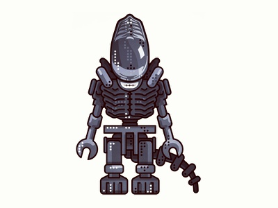Alien !!  Lego (1979) !! tvshow surprised constructor outline lego art movie character icon illustration line
