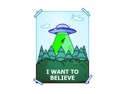The X-File !! I Want To Believe !!  x files flying capture beam spaceship aliens ufo stars space icon illustration outline