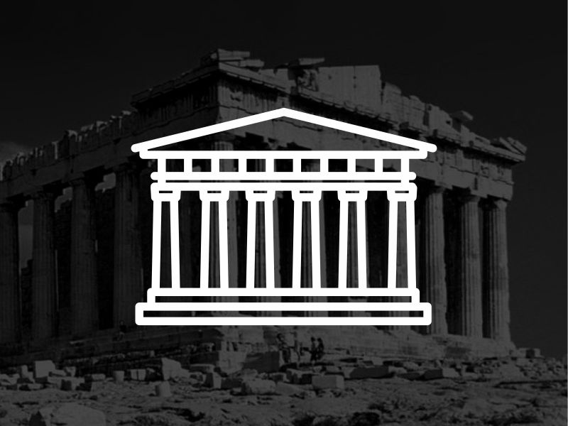 Greece !! Parthenon !! landmark building black vector illustration parthenon greece