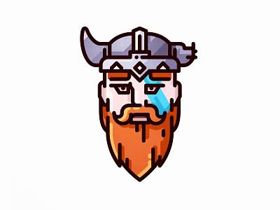 Viking warrior viking vector rpg roleplaying player imagination game flat dwarf dnd character