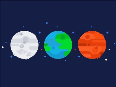Planets Set No.1 flat mars system space solar saturn pluto planet icons icon galaxy earth