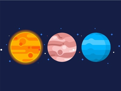 Planets Set No.2 system space solar saturn pluto planet mars icons icon galaxy flat earth