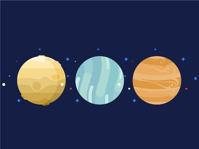 Planets Set No.3 system space solar saturn pluto planet mars icons icon galaxy flat earth