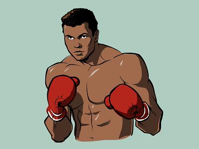 Muhammad Ali wacom draw rip muhammad ali legends illustration icon graphic design boxer