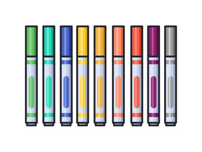 Markers skecth seamless pencil pen pattern marker liner illustration icons eraser copic art