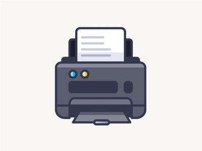 Printer wireframe solid printing printer outline illustration iconography icon dimensions cube minimal art