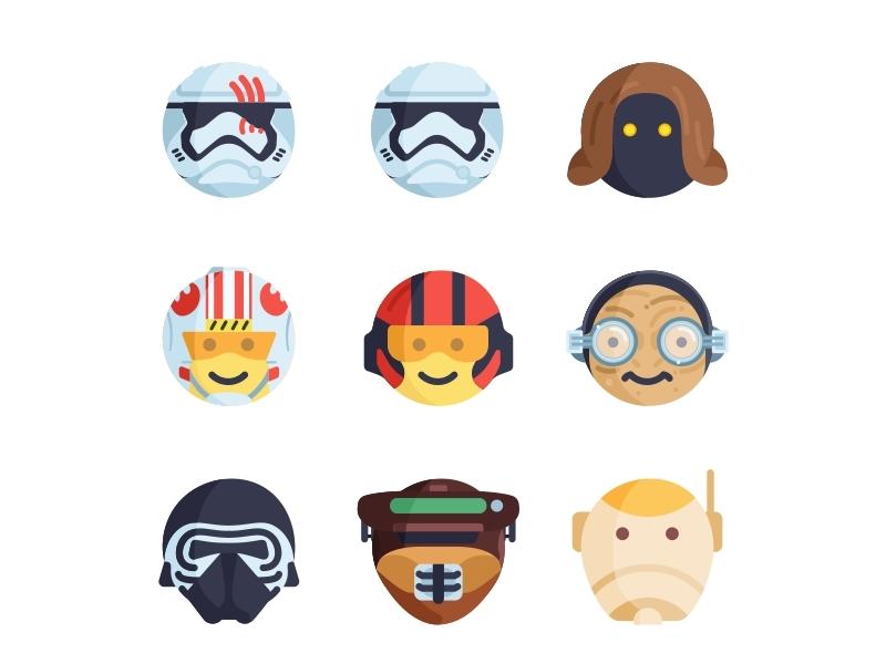 Instagram  star wars emoji