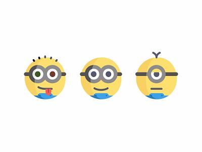 Minions Emoji minions minion social chat icon emoticon illustrator flat faces emoji despicable me 2d