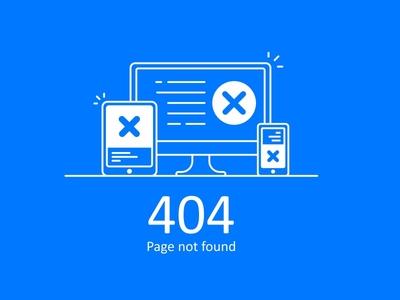 Error 404 Blue