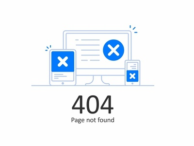 Error 404 White app line icon material page not missing illustration found error color 404