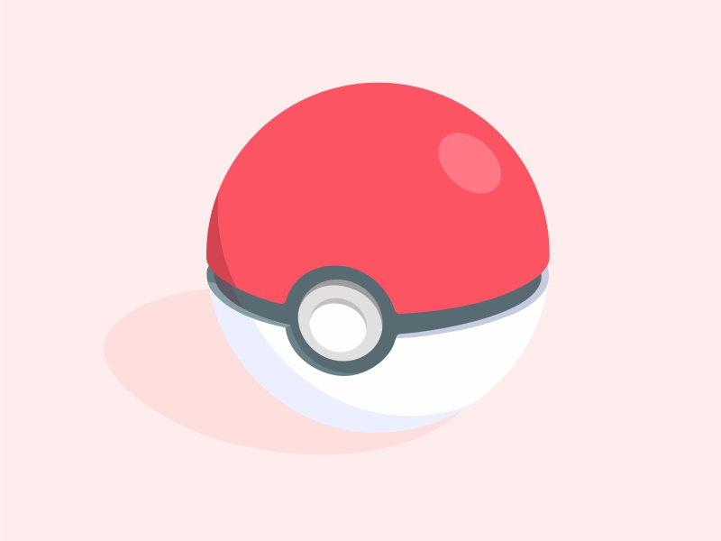 Poke Ball icon pokemon pokeball pikachu nintendo minimal flat illustration gameboy game