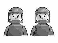 Lego Character outline line character space nasa lego illustration icon delivery badge astronaut