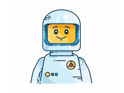 Lego character spaceman suit toxic space smile outline lego illustration icon head emoji