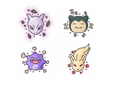 Pokemons throw pokemon go pokemon pokeball pikachu outline lightning illustration icon fast cute