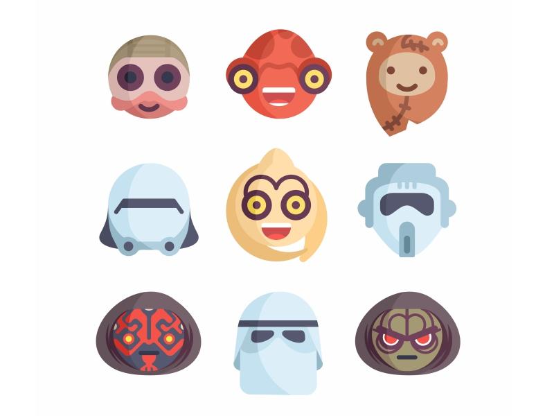 star wars emoji no18 by aleksandar savic dribbble