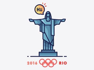 Rio 2016 Olympics illustration brazil landmark rio de janerio flat design flat cities city rio win shoot olympics medal