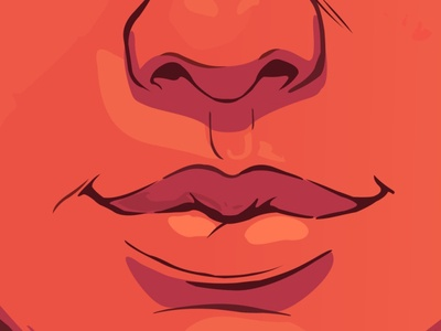 Girl lips illustration beautiful flat pretty vector smile sexy nerd glasses girl geek cute