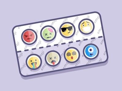 emoji pills doctor hospital drug pill medicine reactions icon faces emotions emoji set emoji