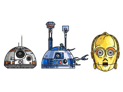 Star Wars Droids stormtrooper star wars r2d2 outline kylo icons droid death star darth vader c3po boba fett bb8