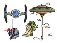 Star Wars set Illustrations