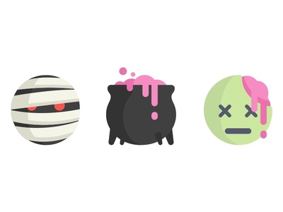 Halloween Emoji No.1 halloween zombie mummy emoji scary avatar icons set fun face happy costume ghost