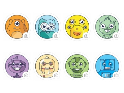 Cute Robots and Animals avatars