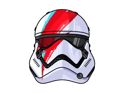 David Bowie Tr 8r Stormtrooper star wars paint space painting colorful logo painted rogue one davidbowie stormtrooper graphic helmet
