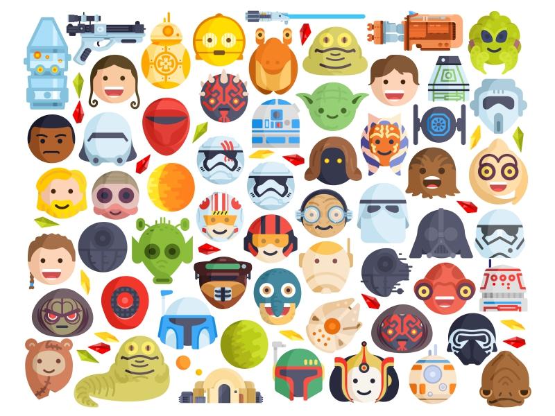 starwars emoji by aleksandar savic dribbble