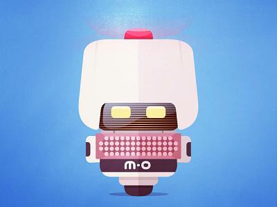 M-O flat animate wall-e sci-fi robot pixar illustration disney art eve mo walle