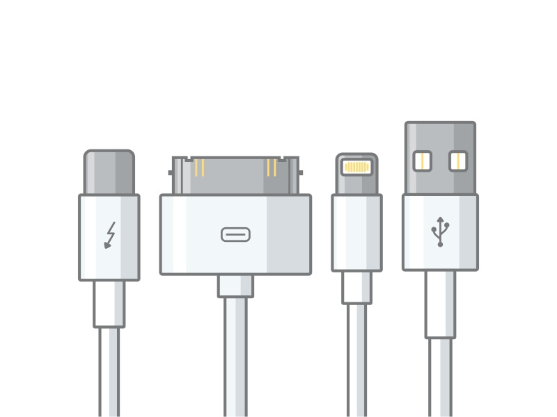 Apple cable apple smart metal technology vector icon iphone mobile cable headphones headjack wireless