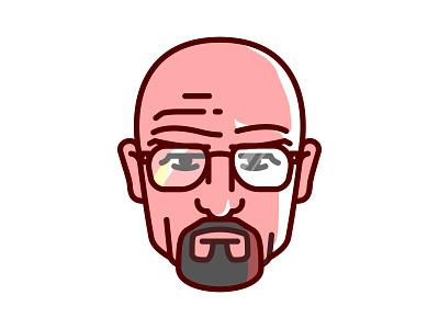 Breaking Bad_Walter White avatar breaking bad illustration vector wallpaper walter white bryan cranston fan art portrait crystal heisenberg digital art