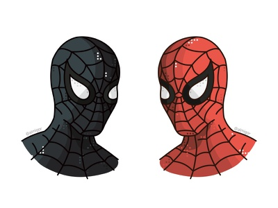 Spiderman Suit Vs Symbiote Suit suit symbiote comics marveluniverse marvel peterparker stanlee steveditko hero character line illustration